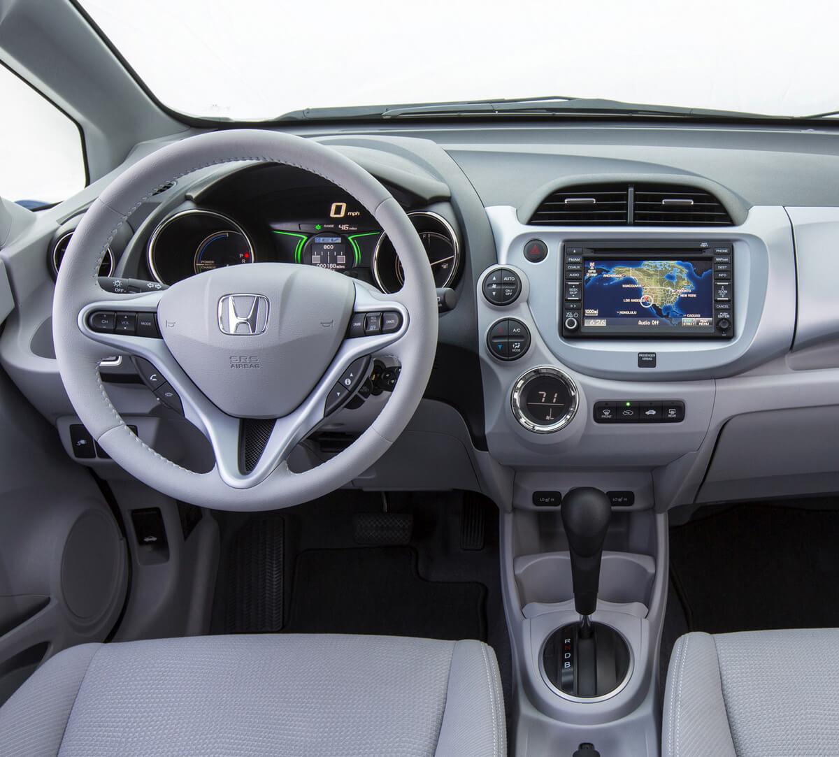 Honda Fit EV interior 2013 2014